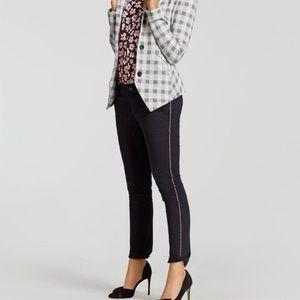 Cabi Peyton Ribbon Rainbow Stripe Black Pants 5313